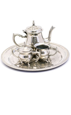 Silver plated tea set is an ever popular choice for a 23rd year wedding anniversary gift