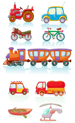 pedal cycle, motor cycle, train, car, truck all forms of conveyances which is the symbol for 32nd year anniversary