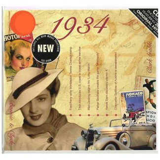 Anniversary or Birthday gift ~ Hit Music CD from 1934 & Greeting Card