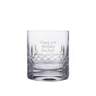 Personalised Cut Crystal Whisky Tumbler