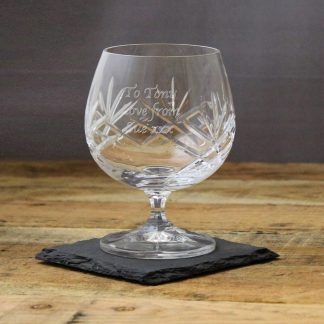 Personalised Crystal Brandy Glass 400311