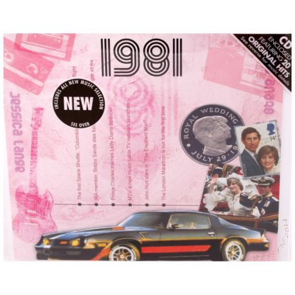 Hit Music CD from 1981 & Greeting Card