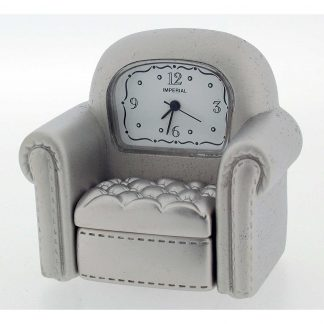 Chrome Armchair Miniature Clock