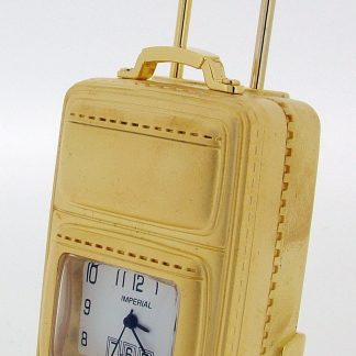 Suitcase on wheels Miniature Clock