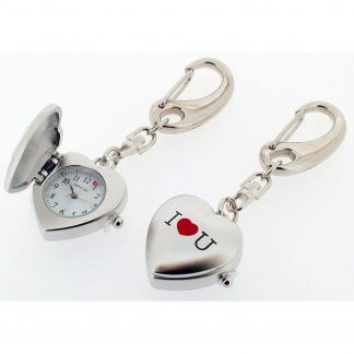I Love You keyring clock