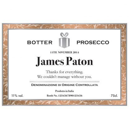 Personalised Wedding Anniversary Prosecco Classic White Design