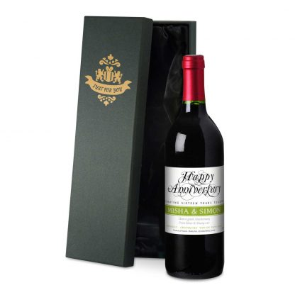 Personalised Wedding Anniversary Red Wine