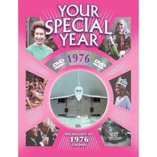 45th Anniversary or Birthday DVD Greeting Card - 1976 by New Media Greetings