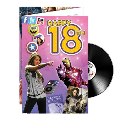 18th Birthday gifts; Music CD and Greeting Card in one.