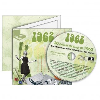 1962 Classic Years Greeting Card with Hit Songs, Download Code and retro CD