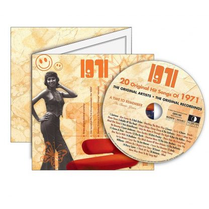 Anniversary or Birthday gift ~ Hit Music CD from 1971 & Greeting Card
