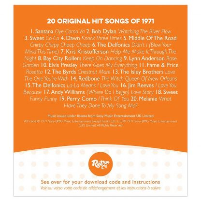Anniversary or Birthday gift ~ Hit Music CD from 1971 & Greeting Card download list