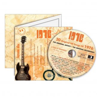 Anniversary or Birthday gift ~ Hit Music CD from 1976 & Greeting Card