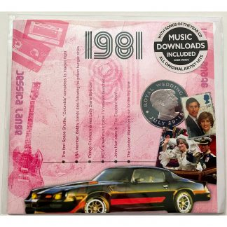 40th Ruby Wedding gift ~ Hit Music of 1981 CD, Download & Greeting Card