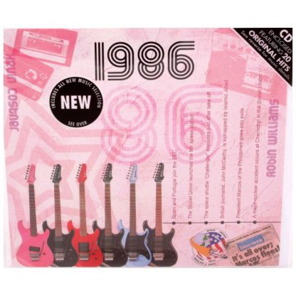Hit Music CD from 1986 & Greeting Card