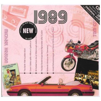 Hit Music CD from 1989 & Greeting Card