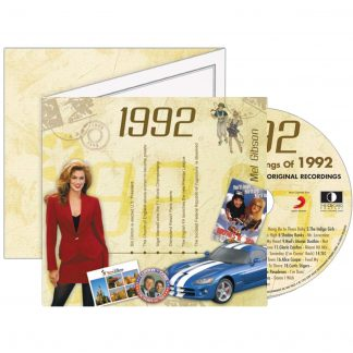 1992 Classic Years Greeting Card with Hit Songs, Download Code and retro CD