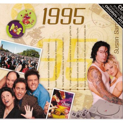 Hit Music of 1995 CD and Greeting Card