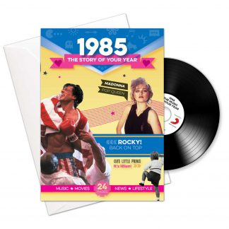 Booklet , Music & Card; 1985 in one present