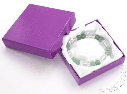 Amethyst and Crystal bracelet in a presentation jewellery box