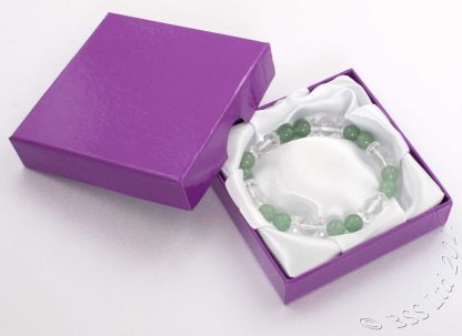 Aventurine and Crystal bracelet in a presentation jewellery box