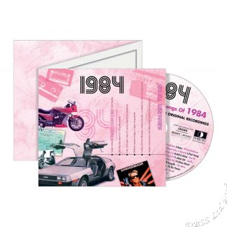 Hit Music CD from 1984 & Greeting Card