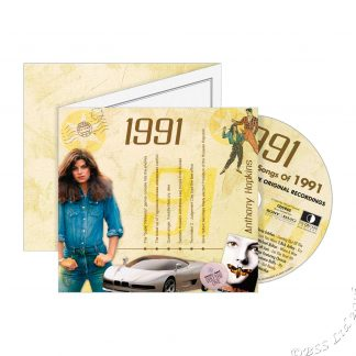 Hit Music CD from 1991 & Greeting Card