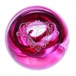 Celebration 40 years Caithness Glass Paperweights Ruby Wedding, 40th Anniversary
