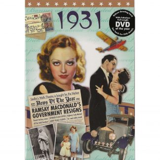 DVD with Memories from 1931 and a Greeting Card in one