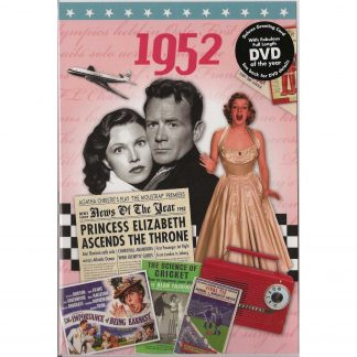 DVD with Memories from 1952 and a Greeting Card in one