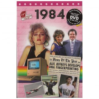 DVD with Memories from 1984 and a Greeting Card in one