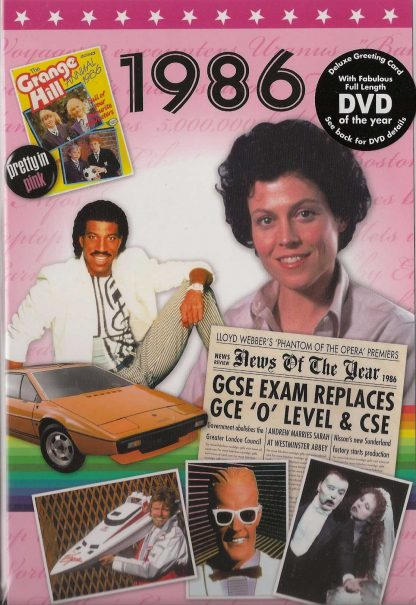 DVD with Memories from 1986 and a Greeting Card in one