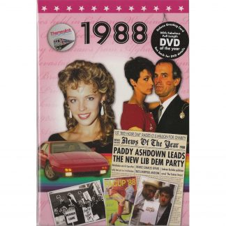 DVD with Memories from 1988 and a Greeting Card in one