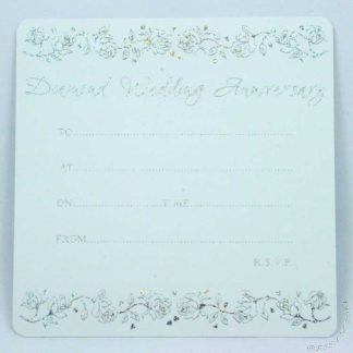 Diamond 60th Anniversary Invitation Cards (Pack of 10)