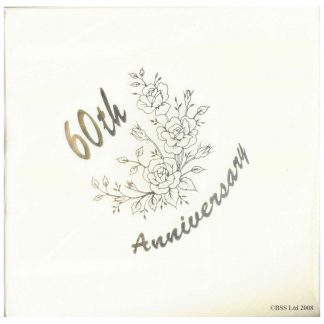 Diamond 60th Anniversary Large Napkin