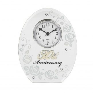 Pearl Wedding Anniversary Mirrored Clock Gift 17851 30th
