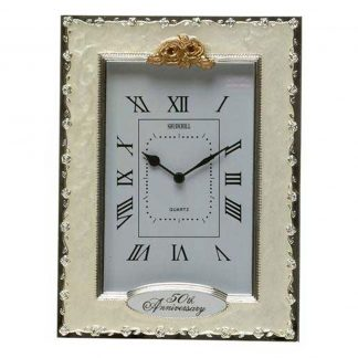 Celebration Golden Wedding 50th Anniversary Clock