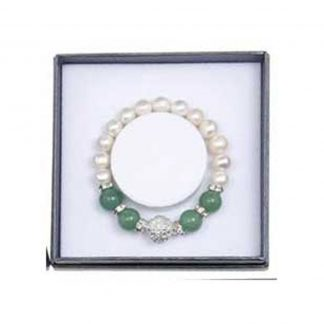 Aventurine and Fresh Water Pearl Bracelet