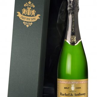 Personalised Wedding Anniversary Cava