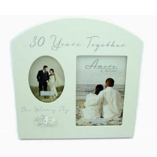 Amore Pearl 30th Anniversary Wedding Gifts Cream Dual Photo Frame