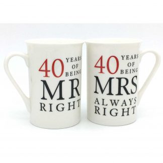 40th Anniversary Gift Set: Mr & Mrs Right