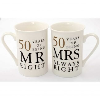 shop for Mr & Mrs Right 50th Anniversary Gift Set