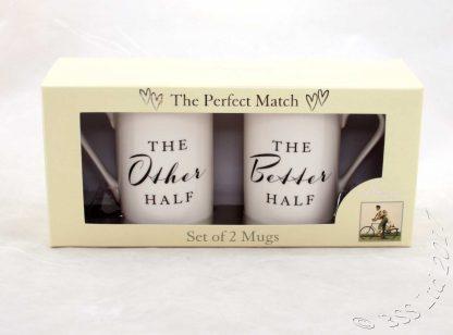 The Other/Better Half Mugs Gift Set China Mugs WG818 in presentation box