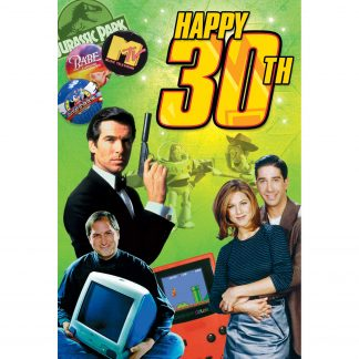 Happy 30th CD greeting Card