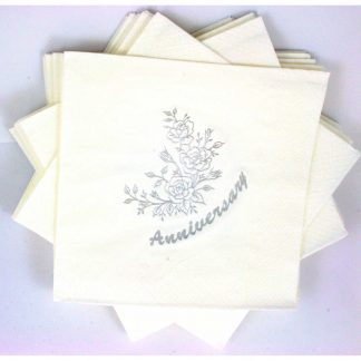 Wedding Anniversary Quality Paper Tissue Napkins by Jean Barrington (pack of 15)
