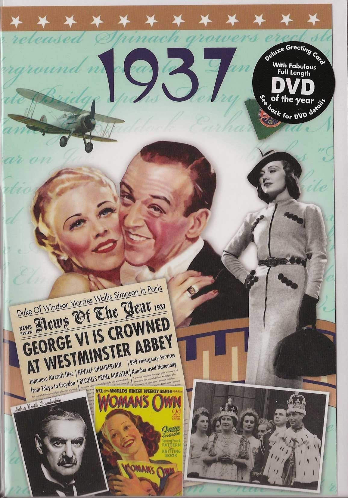 82nd Anniversary gift ~ DVD with Memories from 1937 and a Greeting Card in  one