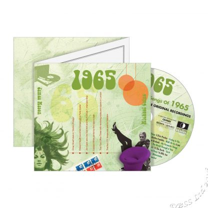 53rd Anniversary or Birthday gift ~ Hit Music CD from 1965 & Greeting Card front view