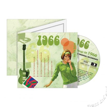 52nd Anniversary or Birthday gift ~ Hit Music CD from 1966 with Greeting Card front view