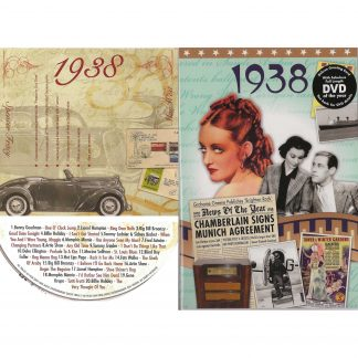 80th Anniversary or Birthday gifts CD & DVD ~ Revisit the Music and News of 1938 items view