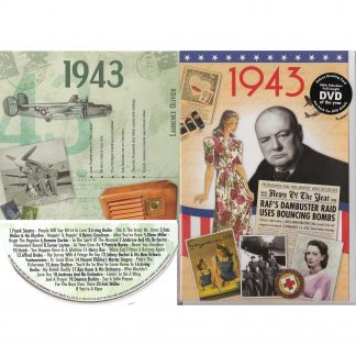 75th Anniversary or Birthday gifts CD & DVD ~ Revisit the Music and News of 1943 items view